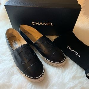 💯% New, Authentic CHANEL espadrille lambskin